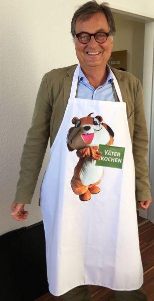 """Hochwertige Herren-Schürze """"Väter kochen"""""""