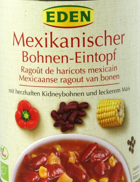 EDEN Mexikanischer Feuriger Bohnentopf, bio