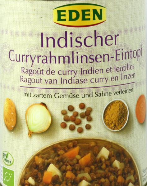 EDEN Indische Curryrahmlinsen Eintopf, bio