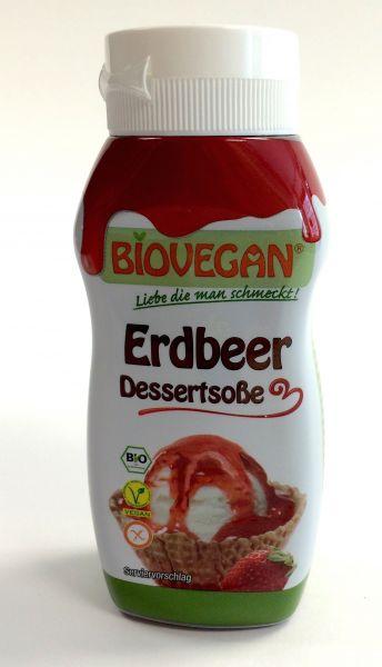 Biovegan Erdbeer Dessertsoße (Eis)