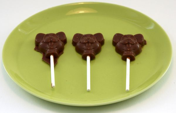 Schokoladen-Lutscher (3 Stück)